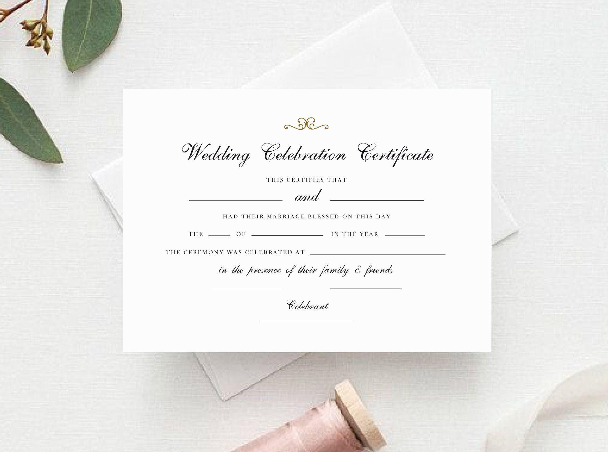certificate marriage celebrant celebration printable pdf