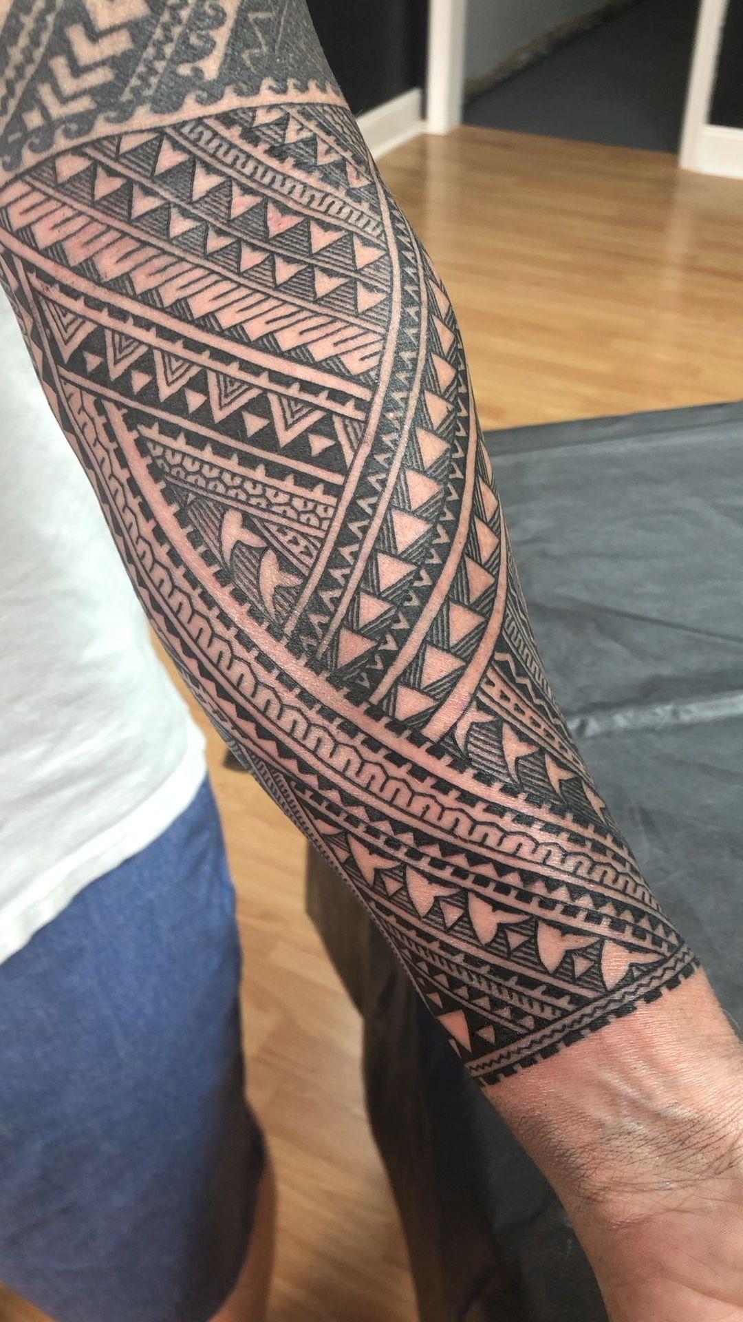 Forearm band tattoo Linda band forearm MaoriTattoos