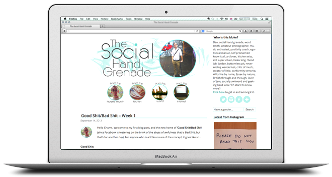 Tiffany Blue Blog Design