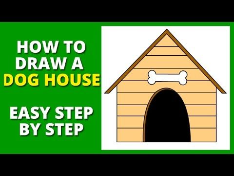 How To Draw A Dog House Step By Step Dog House Easy Drawings