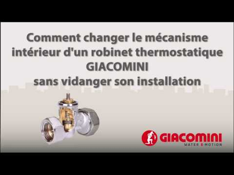 1 Changer Le Mecanisme Interieur D Un Robinet Thermostatisable Giacomini Youtube In 2020