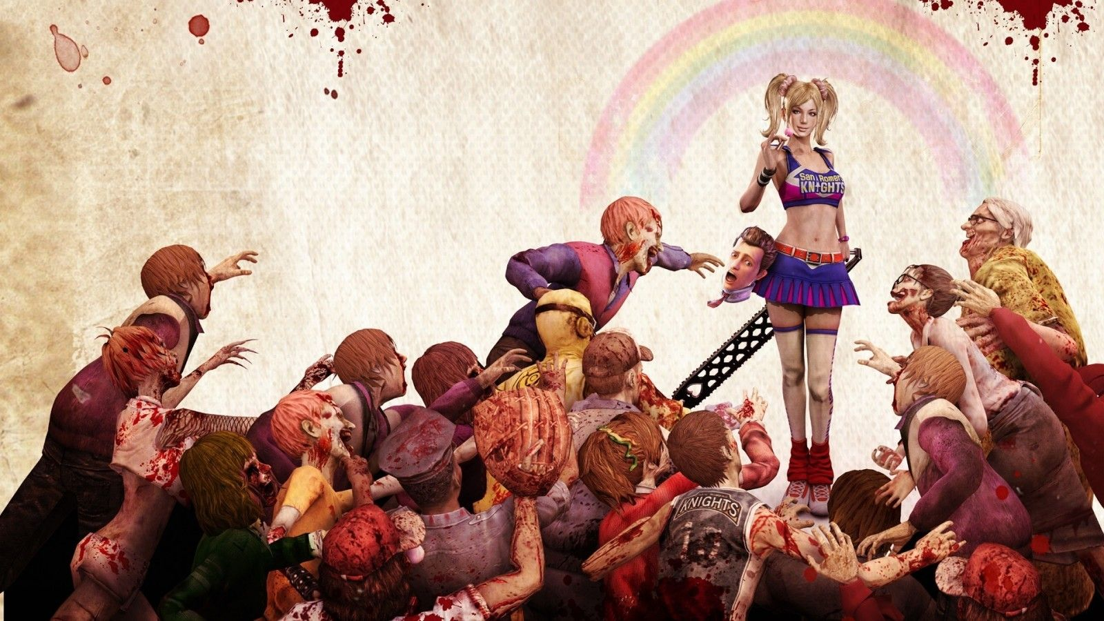 blonde Lollipop Chainsaw video games zombies gore