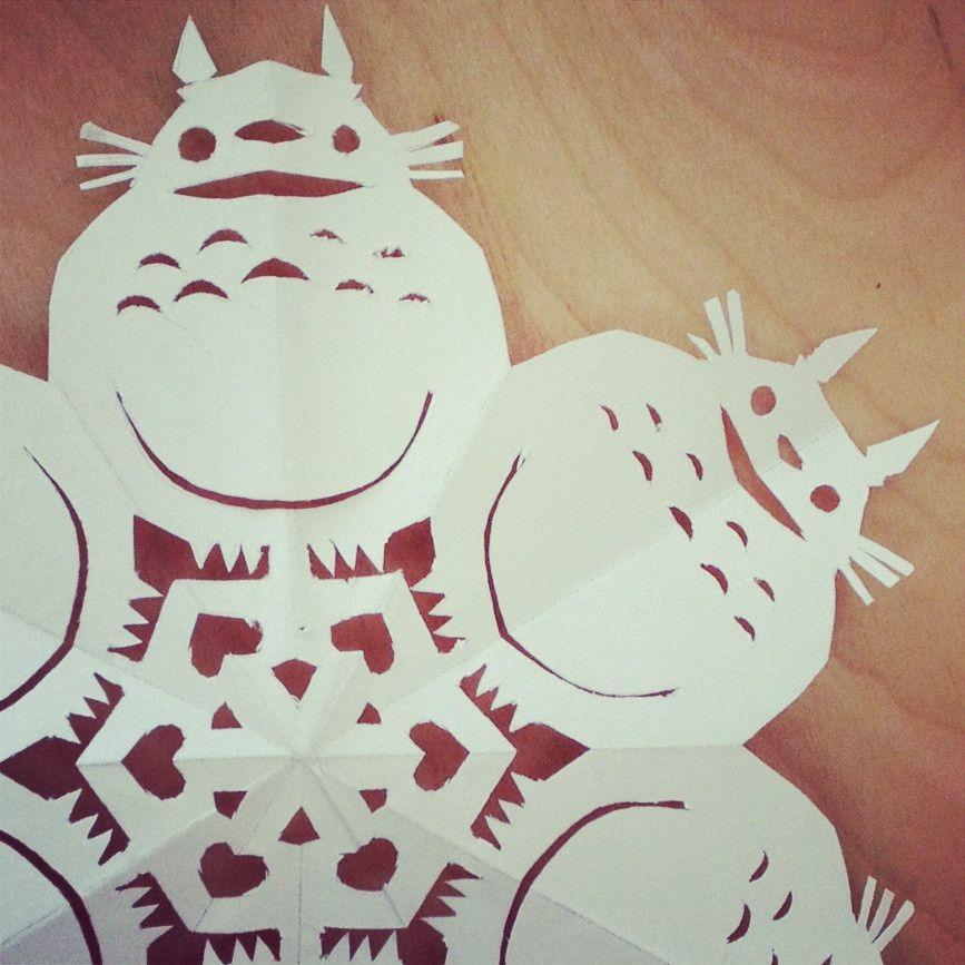 Diy totoro snowflake template giantrobotstore