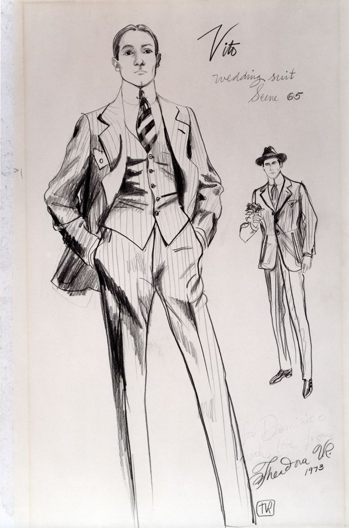 the godfather part ii costume design the godfather part ii costume design rendering Pinterest