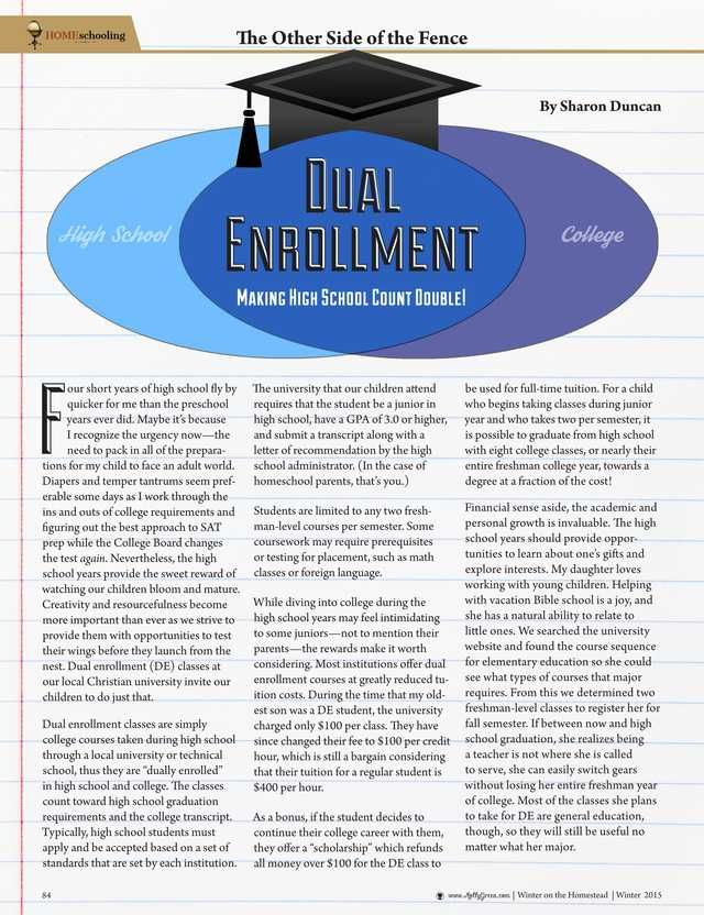 Dual Enrollment: Making High School Count Double!—By Sharon O. Duncan - Molly Green - Winter 2015-2016 - Page 84