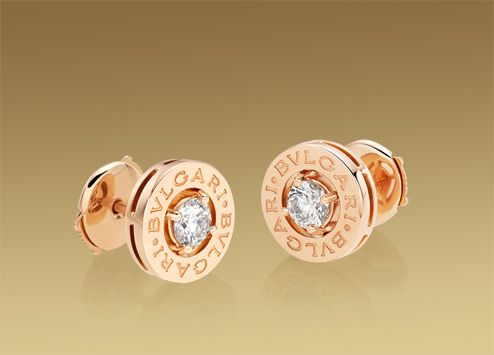 fc5e0733c20f24 Boucles d oreilles Bulgari Bulgari en or rose 18 carats avec diamants