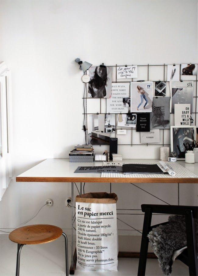 Scandinavian home office Le Sac en Papier paper Crush Le sac en papier