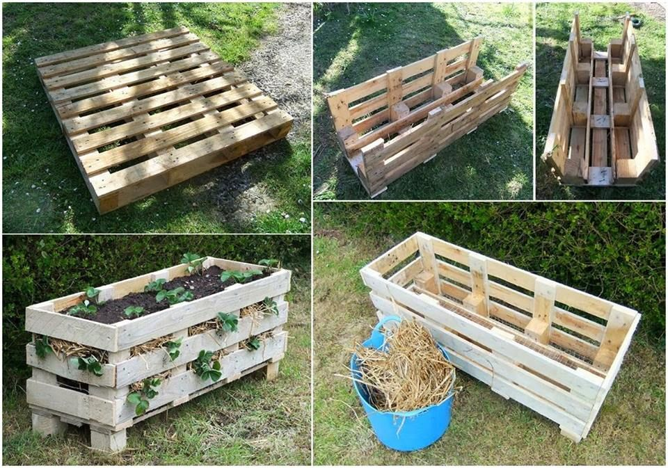 How to create a better strawberry pallet planter pallet
