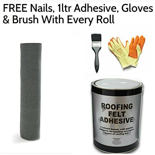 Premium 10m X 1m Green Mineral Shed Felt Roofing Felt Including Free Nails 1ltr Adhesive Gloves Roofing Felt Garden Power Tools Garden Yard Ideas