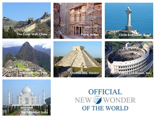 The New 7 Wonders Versus The Ancient 7 Wonders Of The World