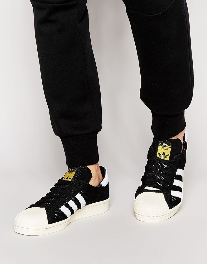 adidas Originals Superstar 80s Primeknit Trainers S82780