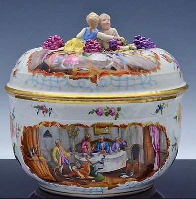 EX.RARE c1780 MEISSEN MARCOLINI PERIOD ENAMELED SCENIC PUNCH BOWL SOUP TUREEN https://t.co/bkDYttuL1O https://t.co/QvWVDBOeTR