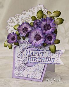 Heartfelt Creations | Majestic Birthday Roses | cards flower pots ...