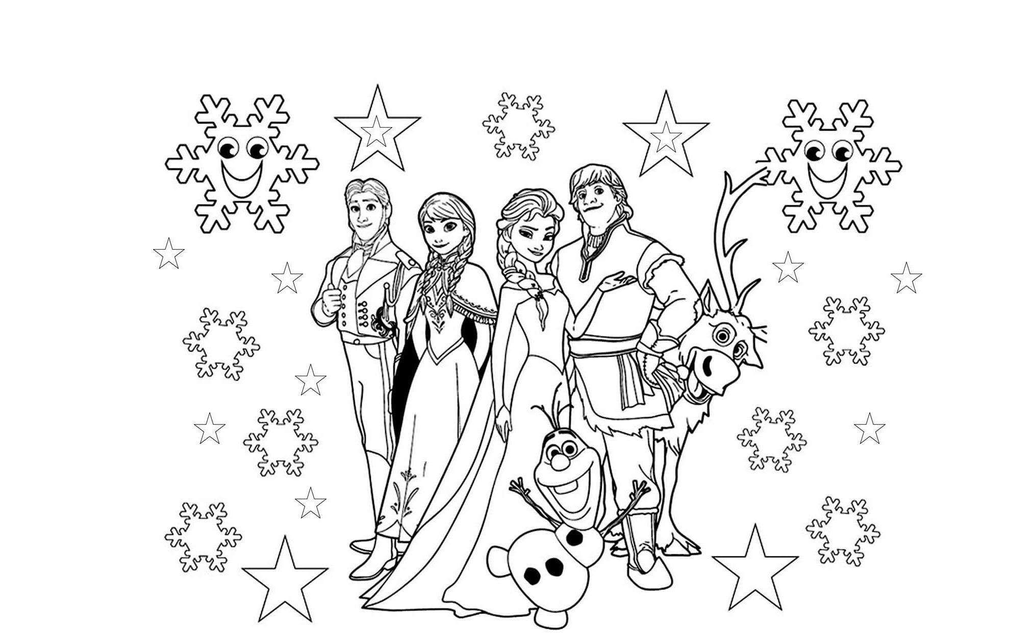 Malvorlagen Kostenlos Anna Und Elsa