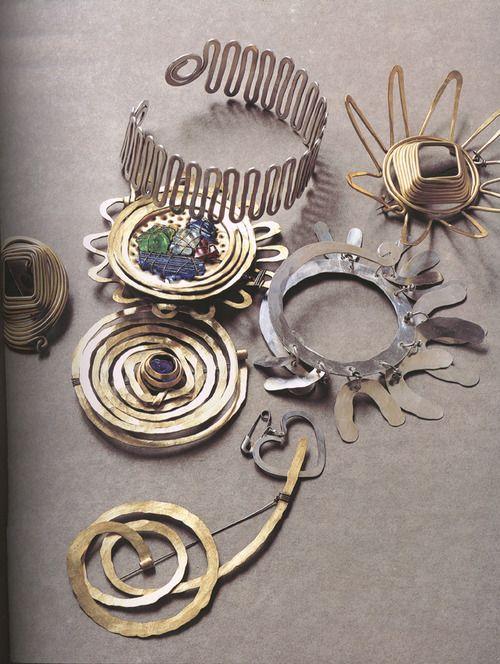 Jewelry designed by Alexander Calder.