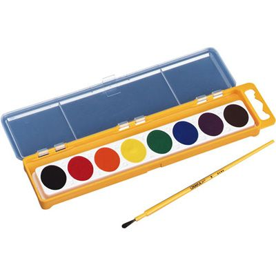 Crayola Washable Watercolor Set 8 Colors And Brush Retro Kids