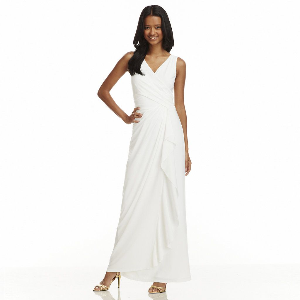 Women S Chaps Gathered Ruffle Evening Dress Kohls Simple White Dress Kohls Dresses Dresses [ 1024 x 1024 Pixel ]