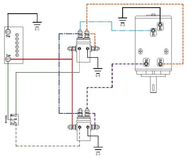 winch wiring diagram http www automanualparts com winch wiring rh pinterest com winch wiring diagram two solenoid winch wiring diagram two solenoid
