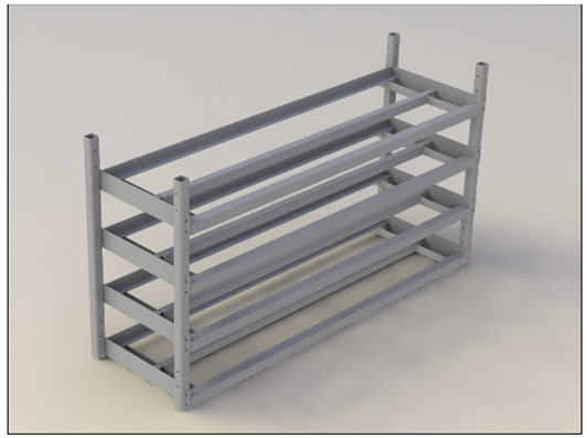 Assembly Drawing Of Battery Rack
