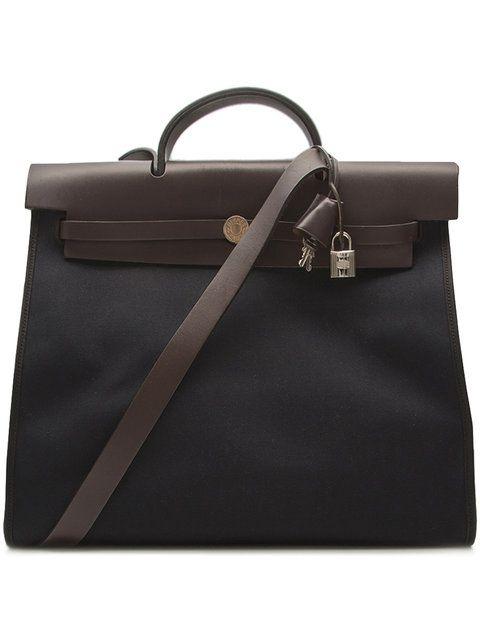 Hermès Vintage Herbag canvas tote bag