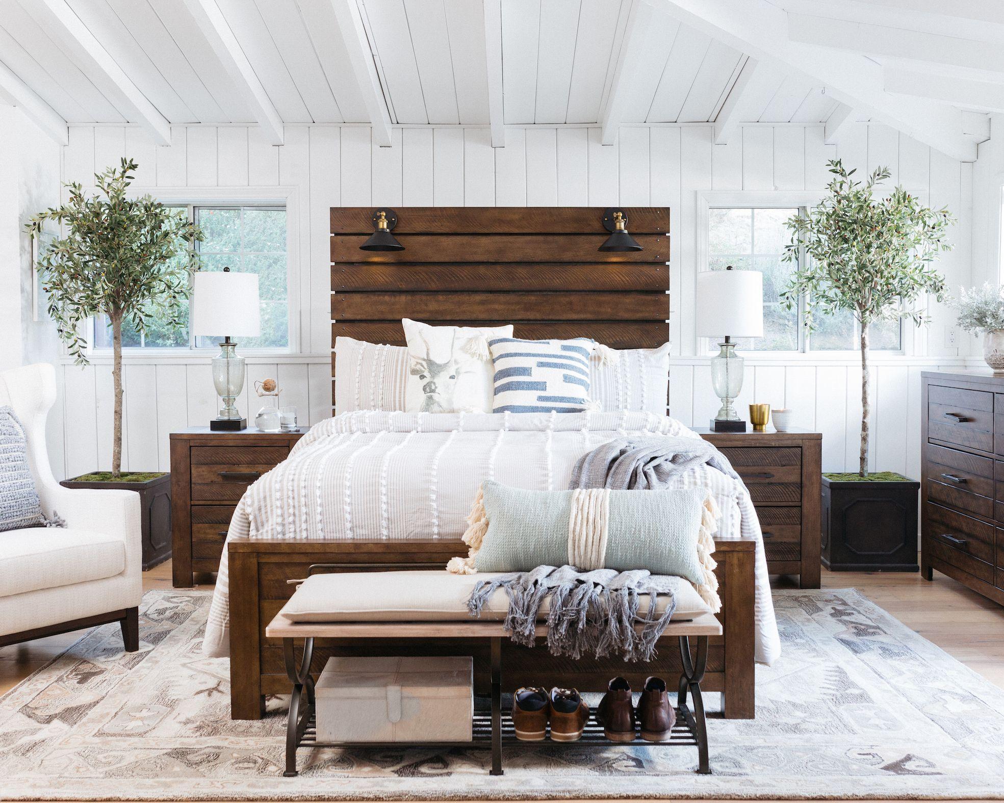 industrial panel bed in brown furniturebeds  bedroom