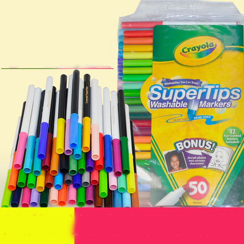 Click To Buy 50 Colors Set Children Drawing Thin Handle