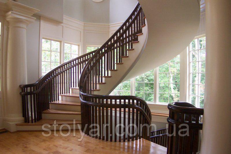 Лестницы из дерева в доме под заказ, фото 1 | Деревянная ...