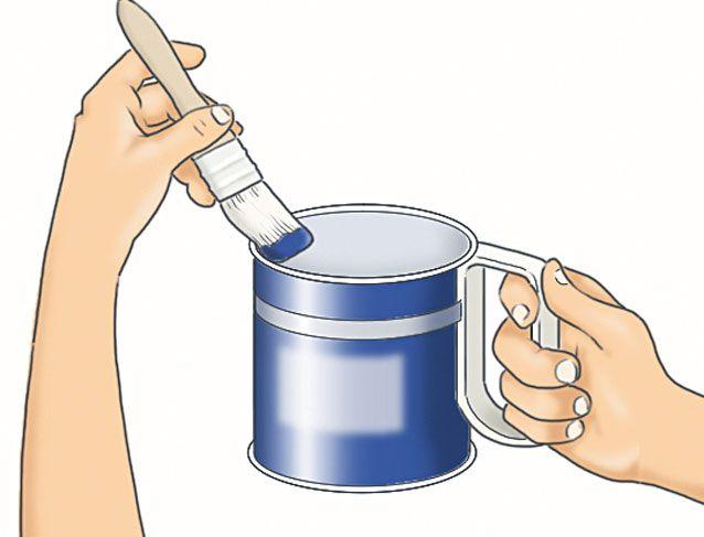 Tenir un pot de peinture sans se salir bricolage