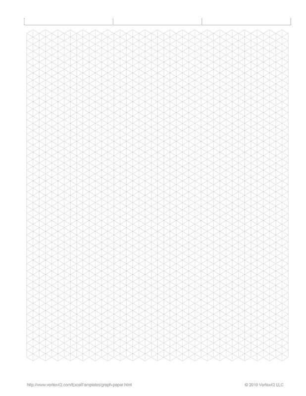 Free Printable Isometric Graph Paper Pdf From VertexCom