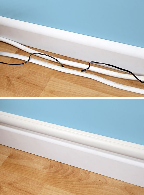 How to hide cables and cords by incorporating decorative trunking or ...
