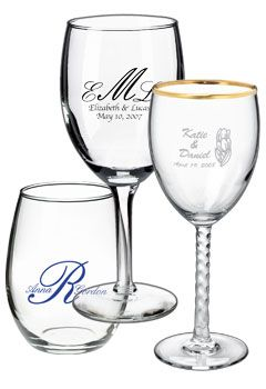 Personalized Wine Glasses How About A Glass As The Wedding Favor If You Really