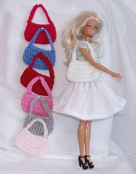 Tasjes Voor De Barbie Diverse Kleuren Barbie Quetzal Crochet