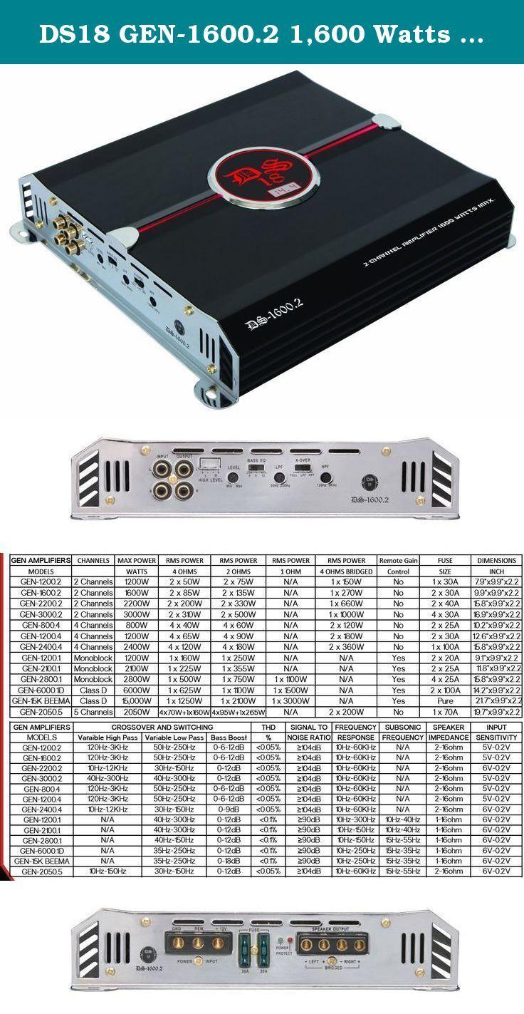 ds18 gen 1600 2 1 600 watts max 2 channels stereo amplifier the rh pinterest com