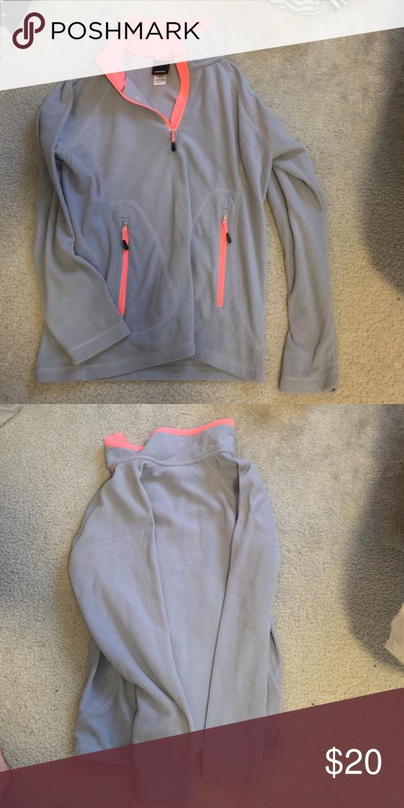 Reebok pullover Like new Reebok quarter-zip, fleece pullover in greyish purple Reebok Tops Sweatshirts & Hoodies