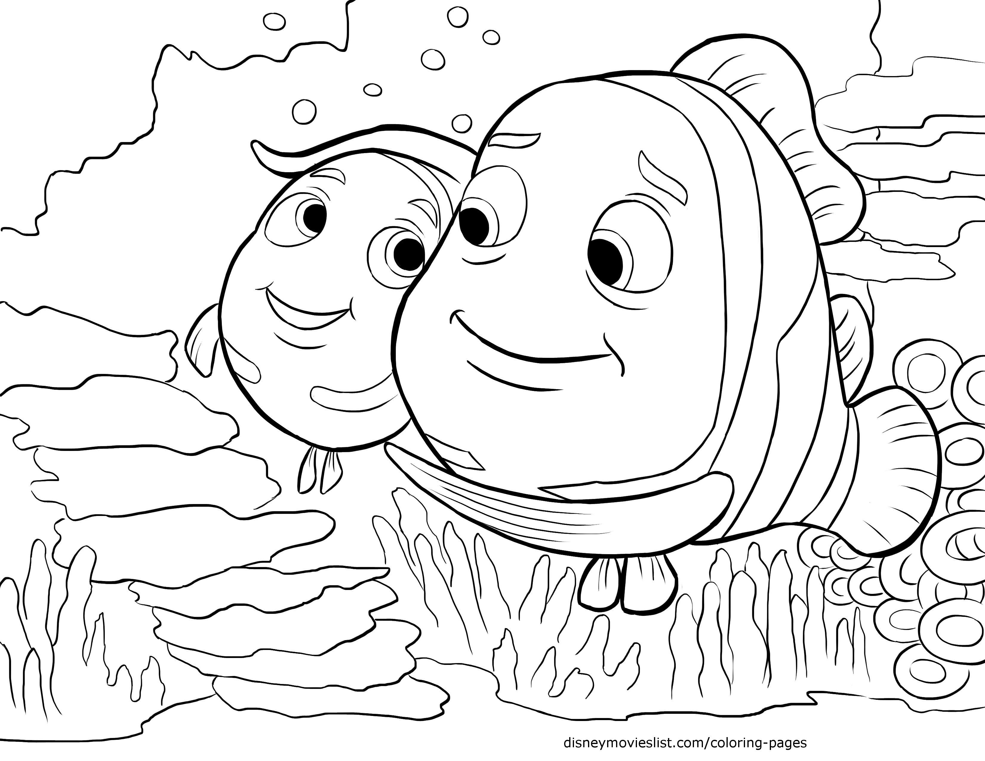 Disney S Finding Nemo Coloring Pages Sheet Free Disney Printable