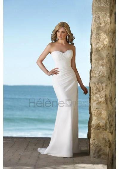 Hot Sweetheart Neckline Sheath Style Summer Wedding Dress