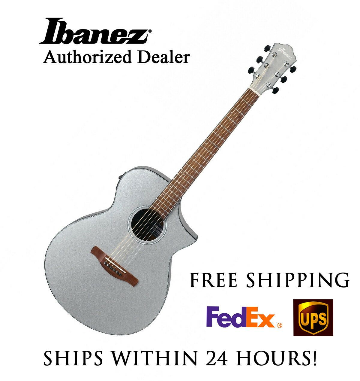 Ibanez Aewc10sm Silver Acoustic Electric Guitar Free Shipping Ebay In 2020 Acoustic Electric Guitar Guitar Acoustic Electric