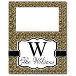 Leopard Tall Picture Frame | Southern Glam Monogram