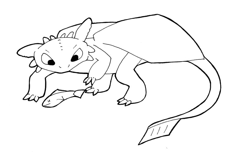toothless-coloring-pages | How to Train Your Dragon Cover ...