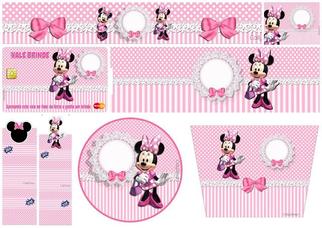 Minnie with Pink Stripes Free Printable Candy Bar Labels u2026 Free Printables Scrapbooking