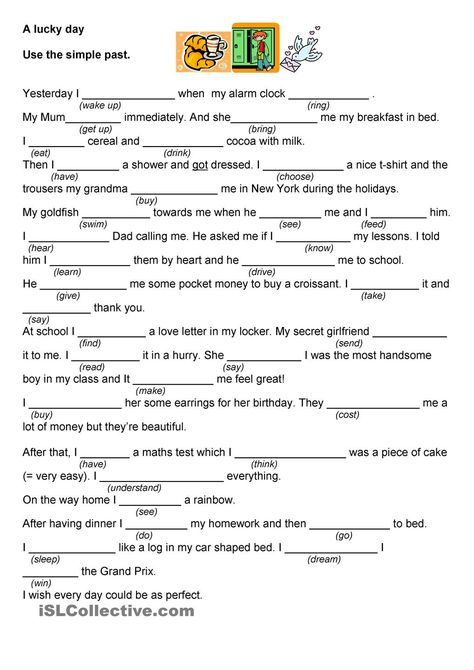 My Lucky Day Worksheets