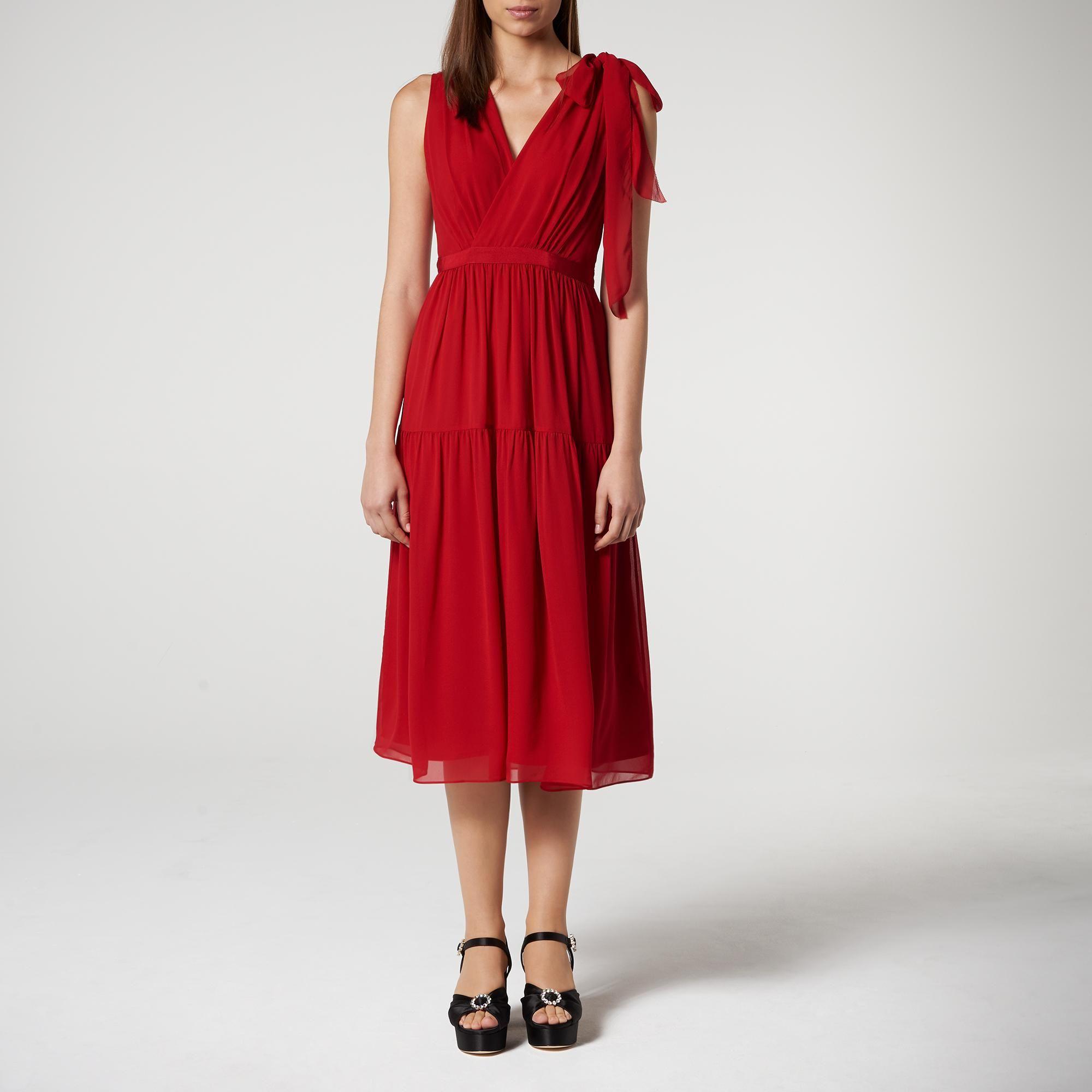 Abigail Red Silk Dress in 2019  15823a2ea
