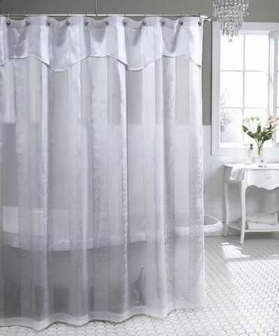 Lush Decor Serena Shower Curtain 72 By Inch Ivory