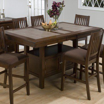 Ceramic Tile Top Kitchen Table Google Search Dining Table With Storage Counter Height Dining Table Set Kitchen Table With Storage
