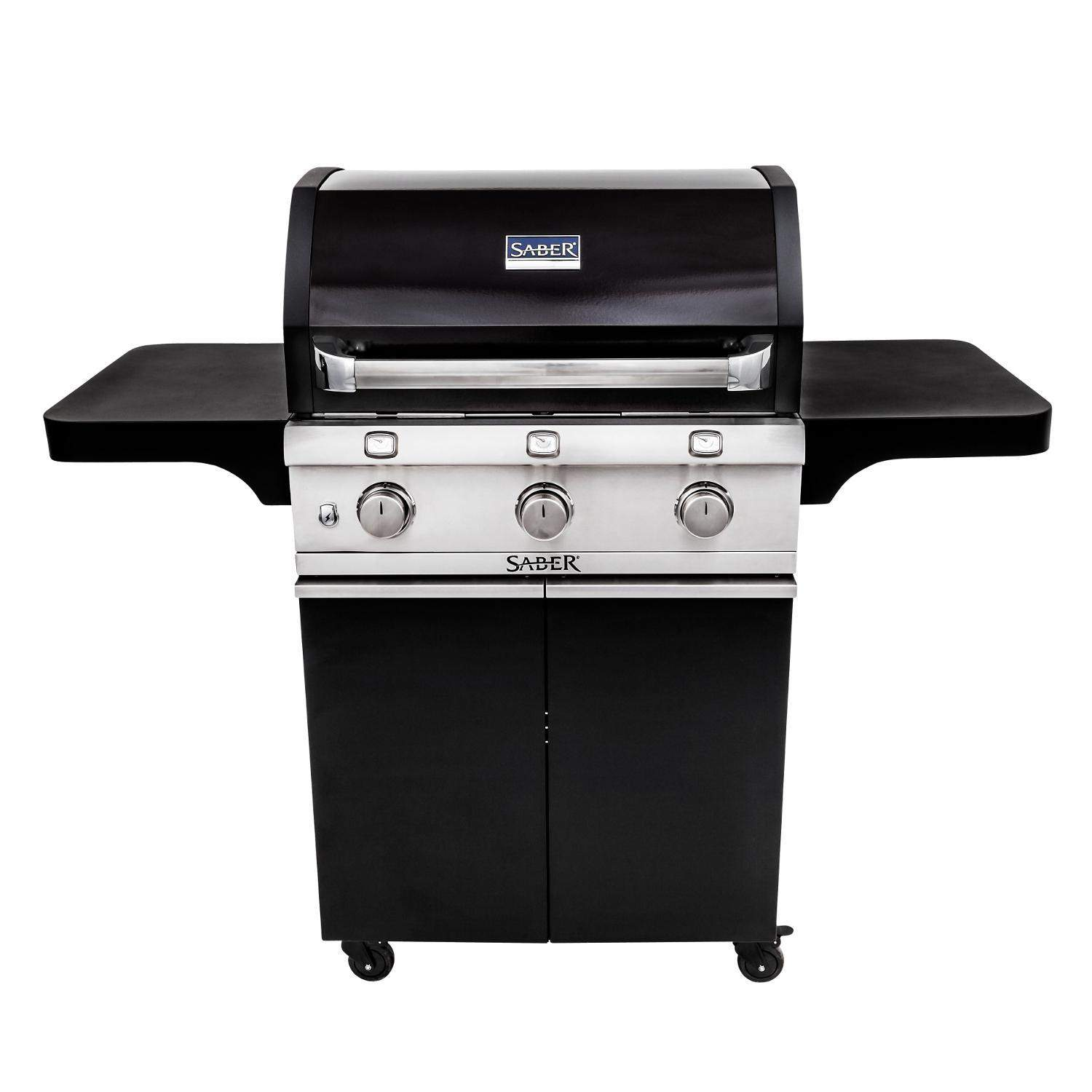 Saber Cast Black 500 32 Inch 3 Burner Infrared Propane Gas Grill R50cc0617 Gas Charcoal Grill Propane Gas Grill Grilling