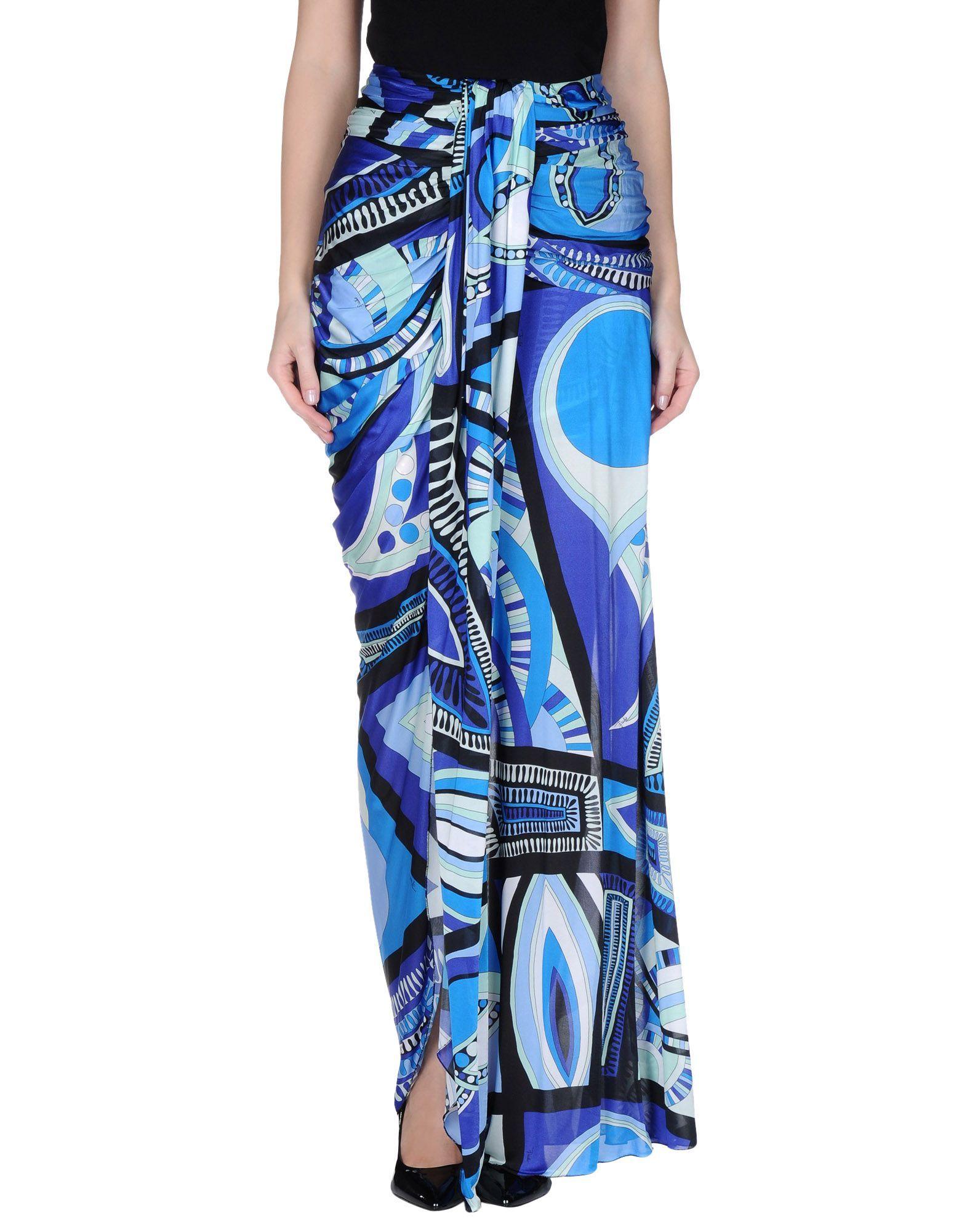 Emilio Pucci Long Skirt - Women Emilio Pucci Long Skirts online on YOOX Kuwait