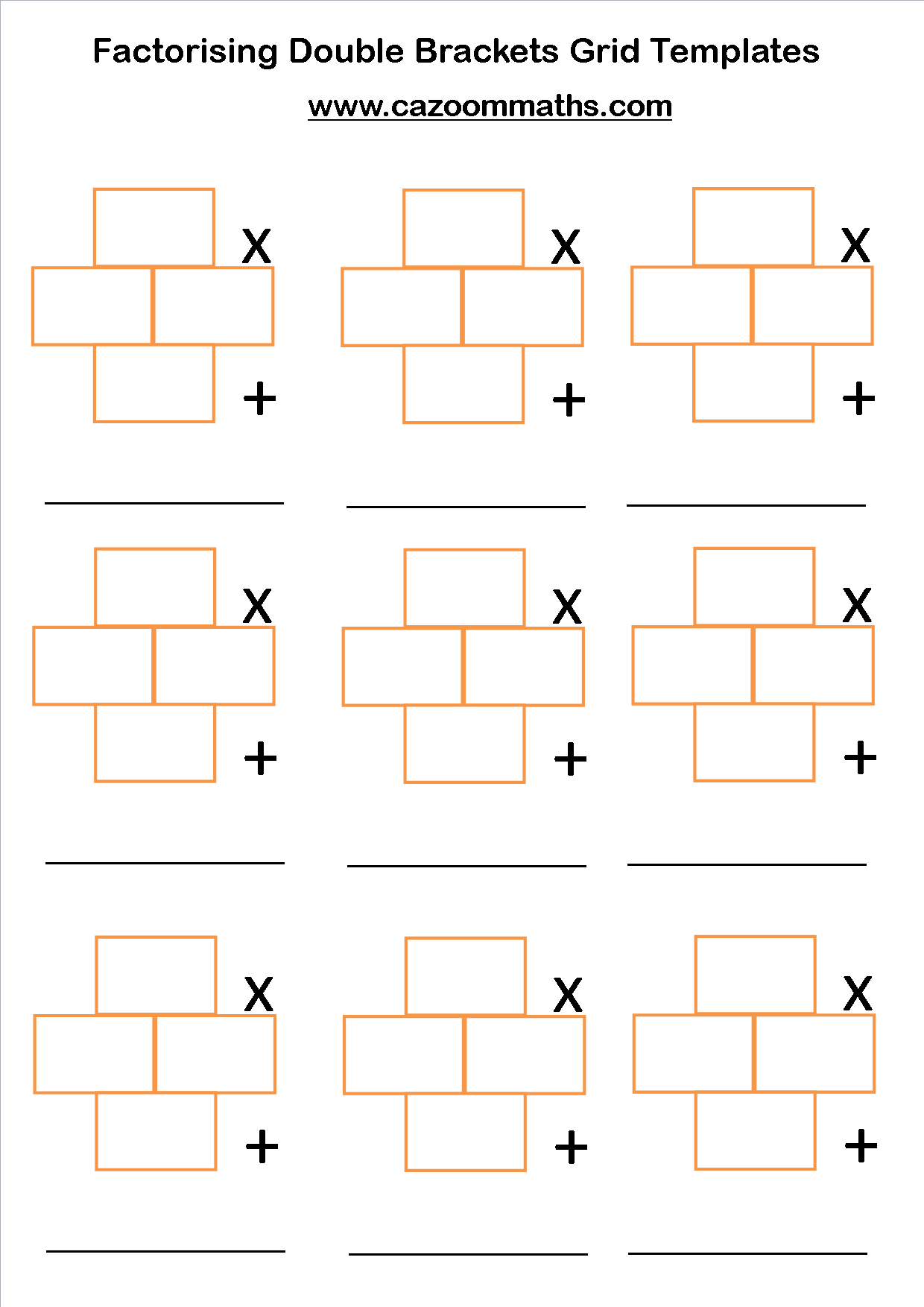 Ks3 And Ks4 Factorising Worksheets