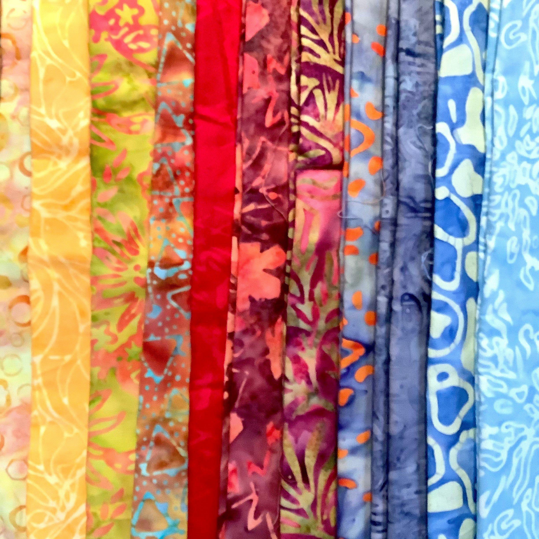 Three Yard Cut of Cotton Batik Fabric