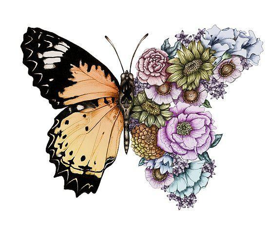 'Butterfly in Bloom II' Poster by ECMazur