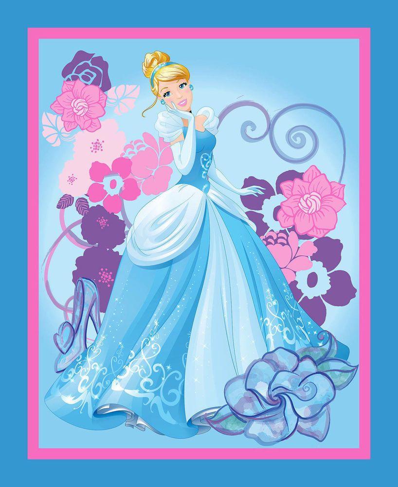 35 fabric panel disney princess cinderella 100 cotton